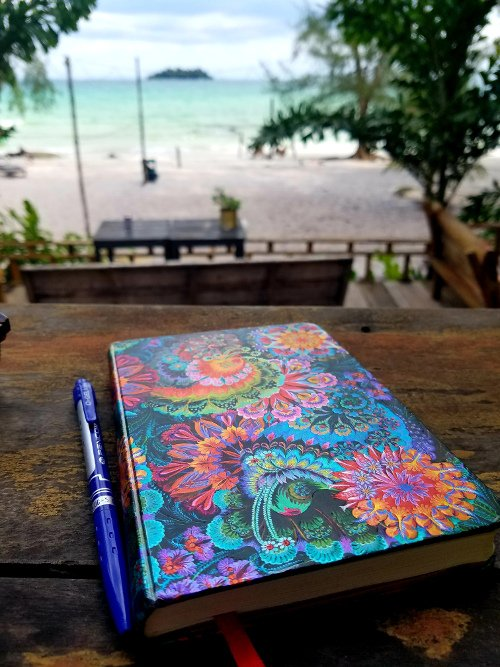 The travel journal Greg Rodgers used in 2019